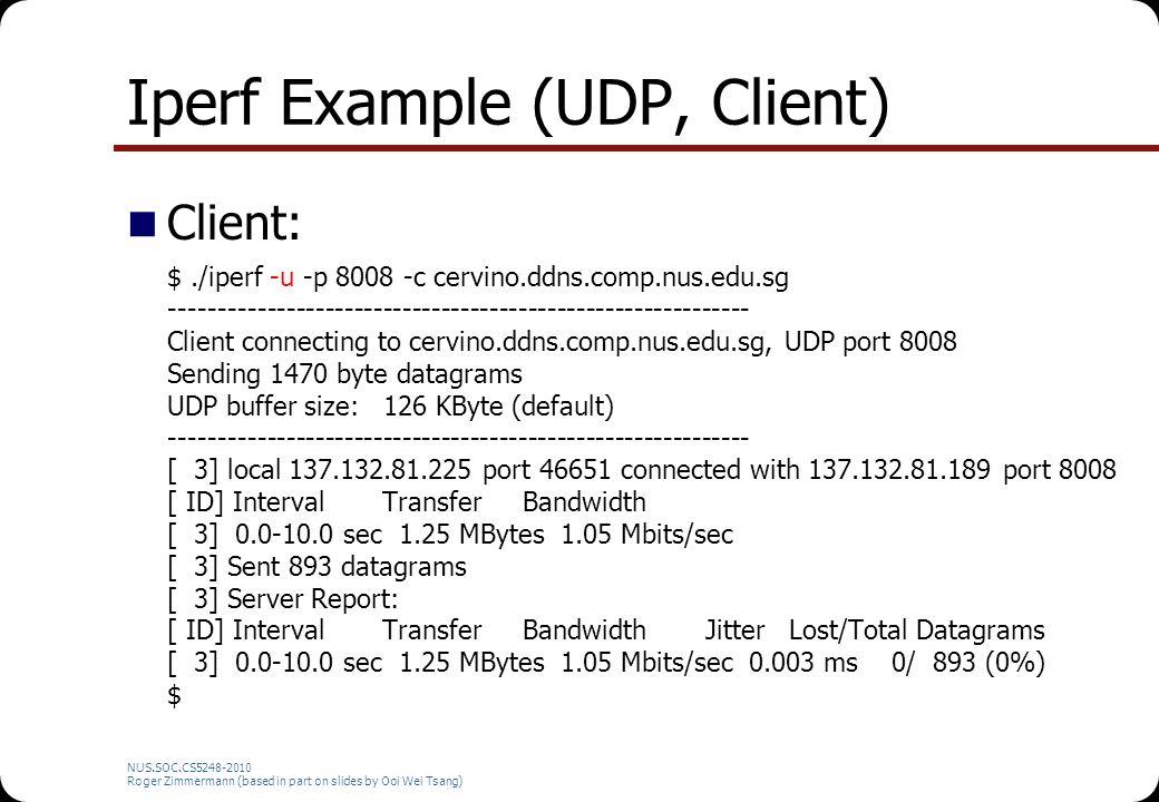 Iperf Example (UDP, Client)