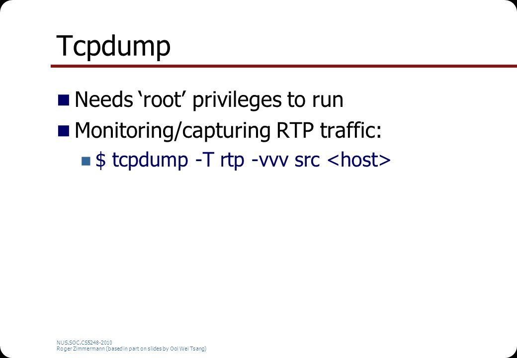 Tcpdump Needs 'root' privileges to run