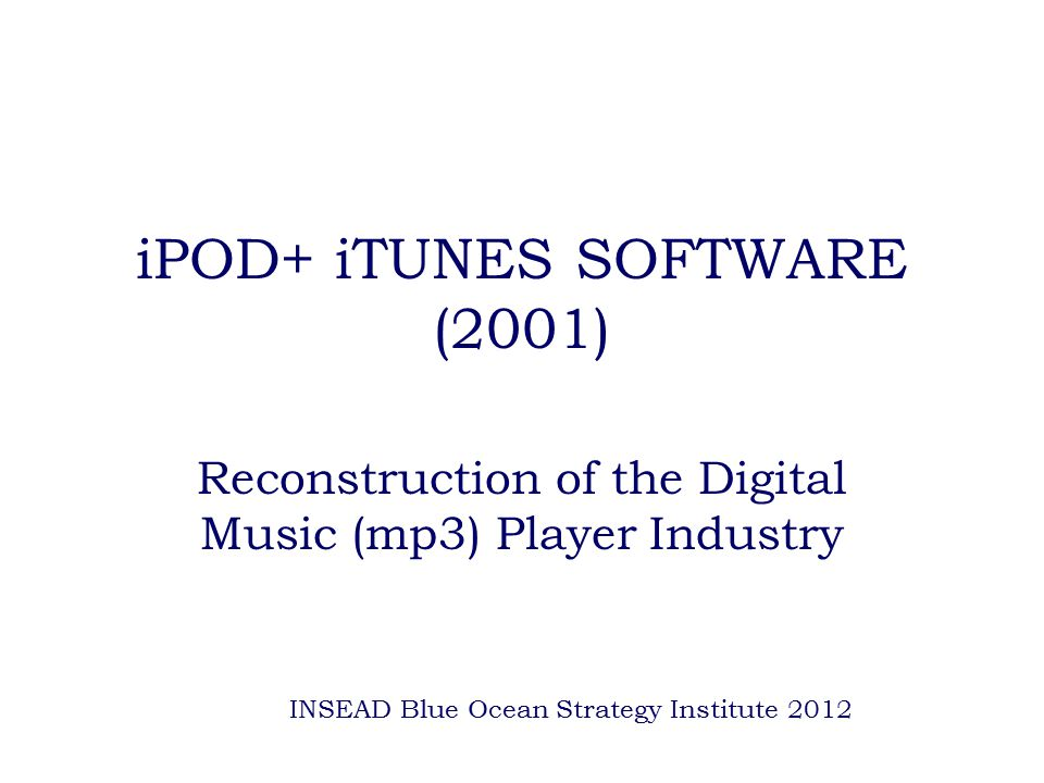 iPOD+ iTUNES SOFTWARE (2001)