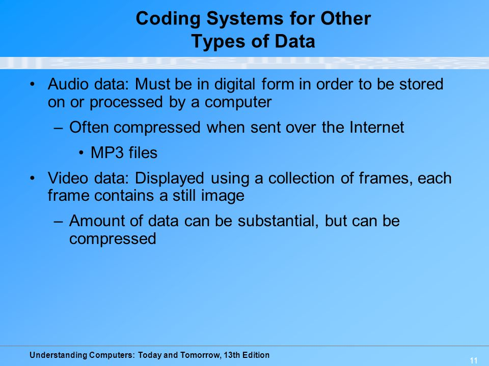 Coding Systems for Other Types of Data