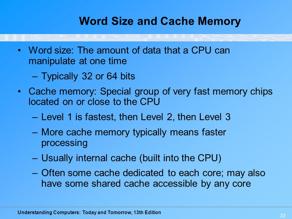 Word Size and Cache Memory