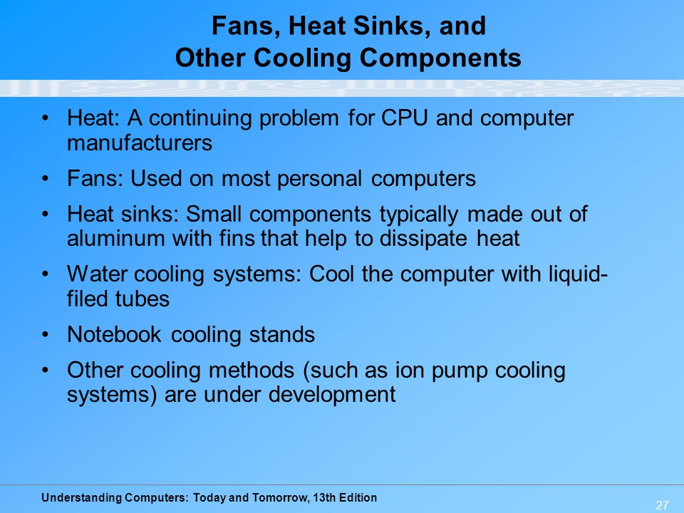 Fans, Heat Sinks, and Other Cooling Components