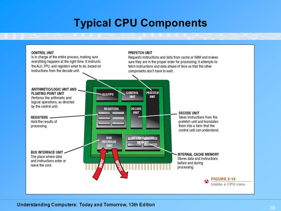 Typical CPU Components