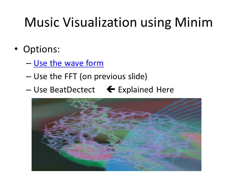 Music Visualization using Minim