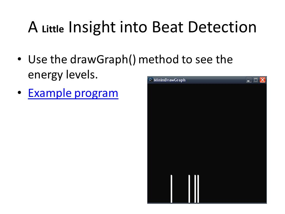 A Little Insight into Beat Detection