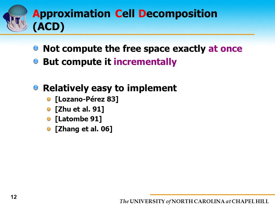 Approximation Cell Decomposition (ACD)