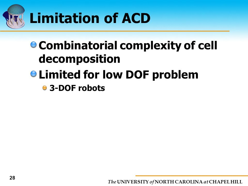 Limitation of ACD Combinatorial complexity of cell decomposition