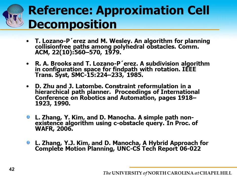 Reference: Approximation Cell Decomposition