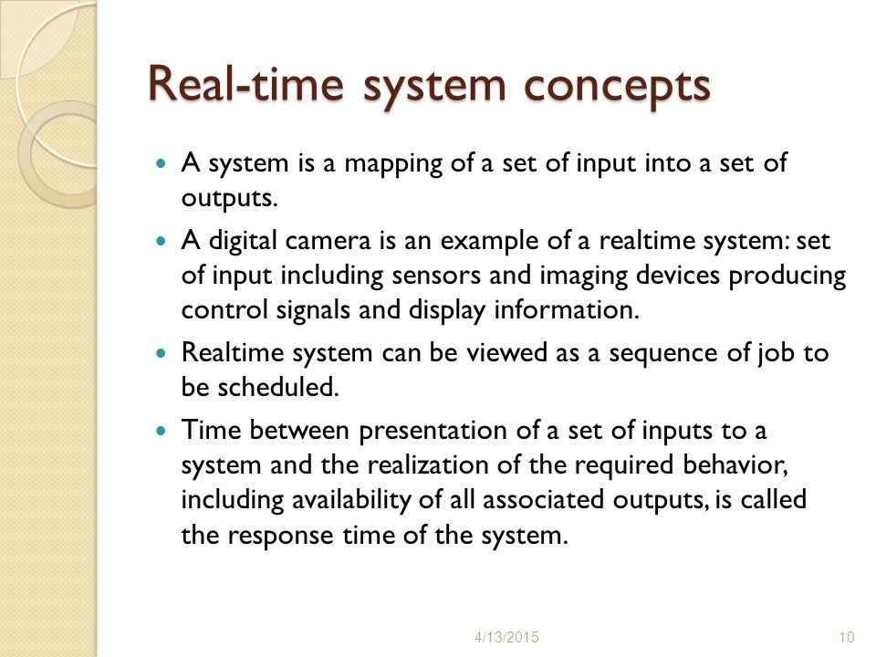 Real-time system concepts