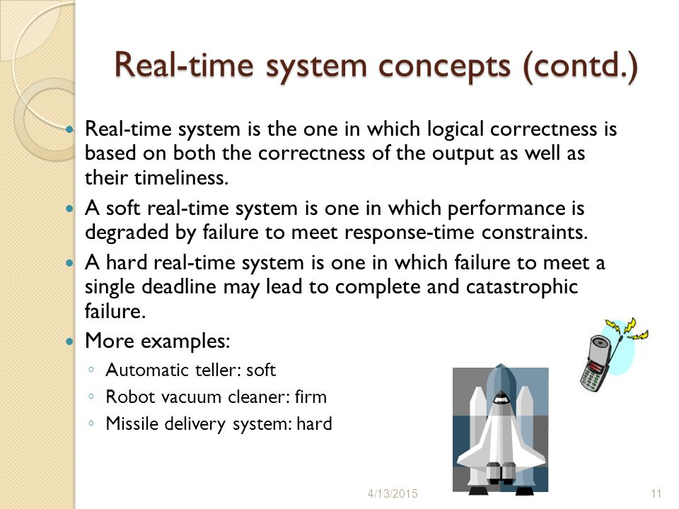 Real-time system concepts (contd.)
