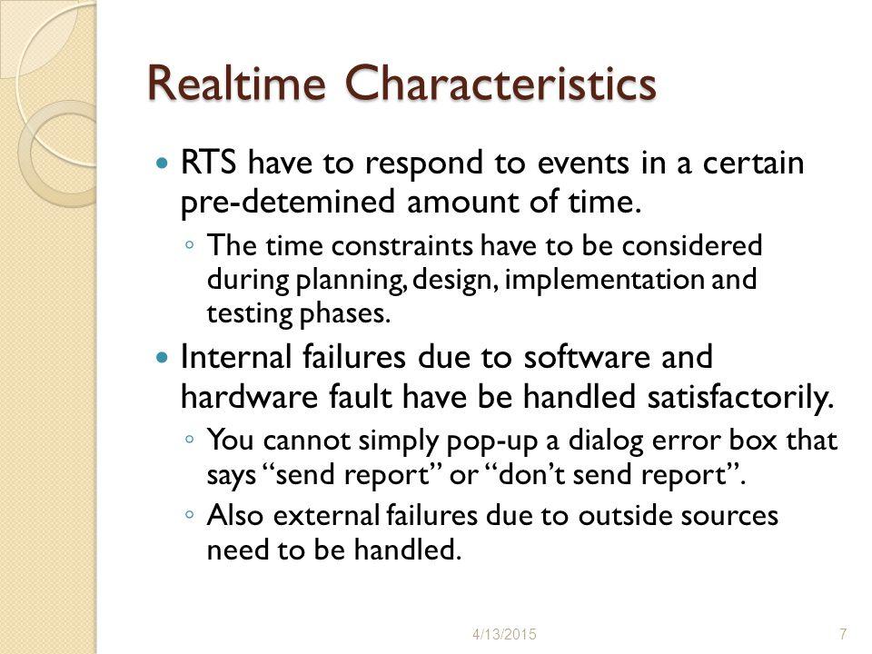 Realtime Characteristics
