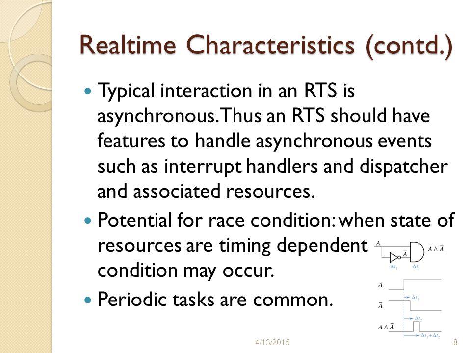 Realtime Characteristics (contd.)