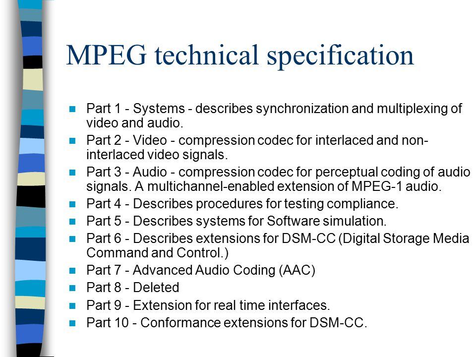 MPEG technical specification
