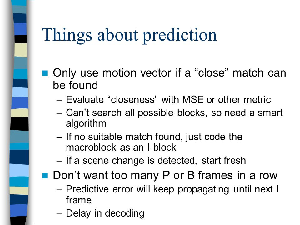Things about prediction