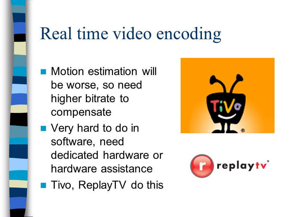 Real time video encoding