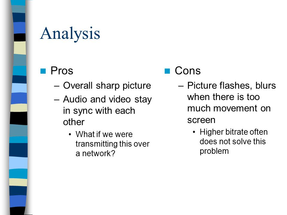 Analysis Pros Cons Overall sharp picture