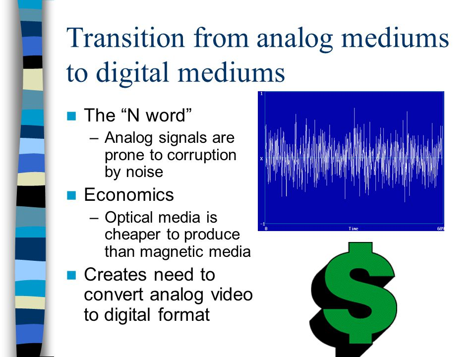 Transition from analog mediums to digital mediums