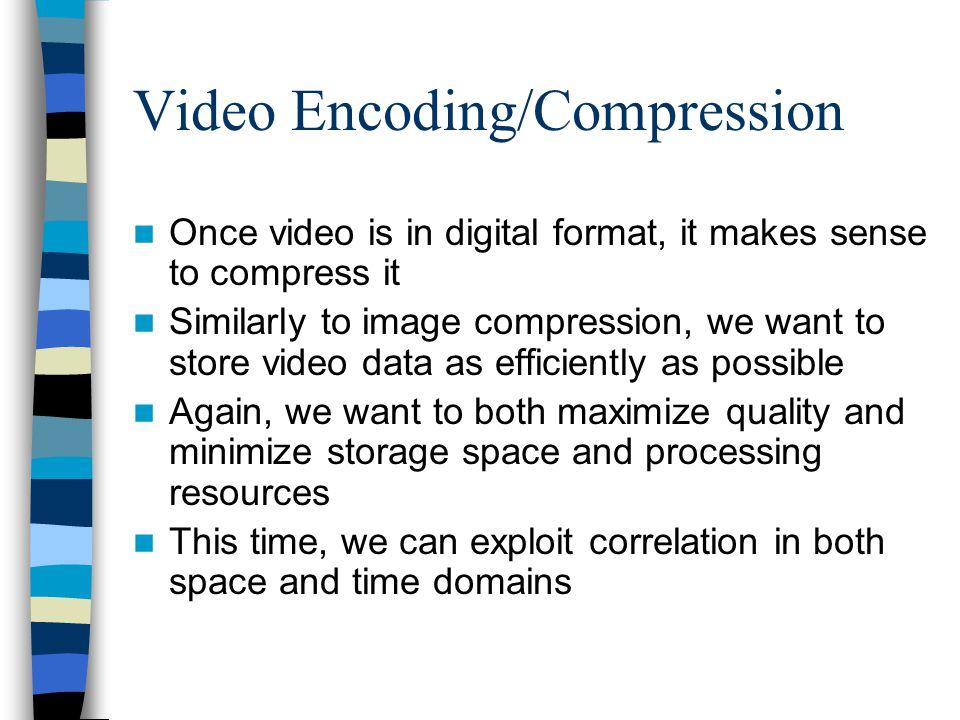 Video Encoding/Compression