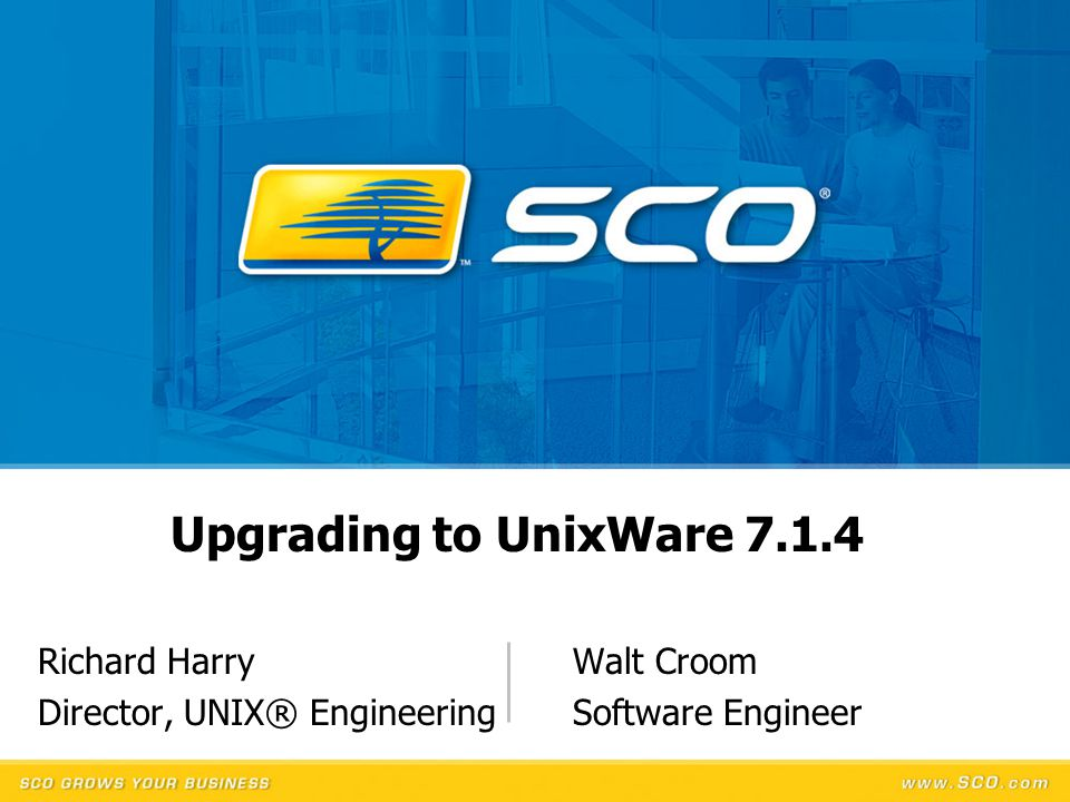 Richard Harry Walt Croom Director, UNIX® Engineering Software Engineer