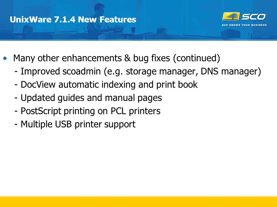Many other enhancements & bug fixes (continued)