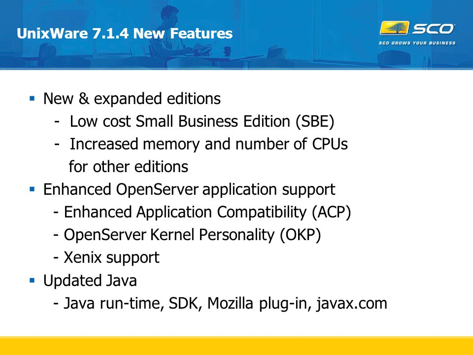 New & expanded editions - Low cost Small Business Edition (SBE)