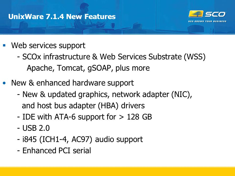 - SCOx infrastructure & Web Services Substrate (WSS)