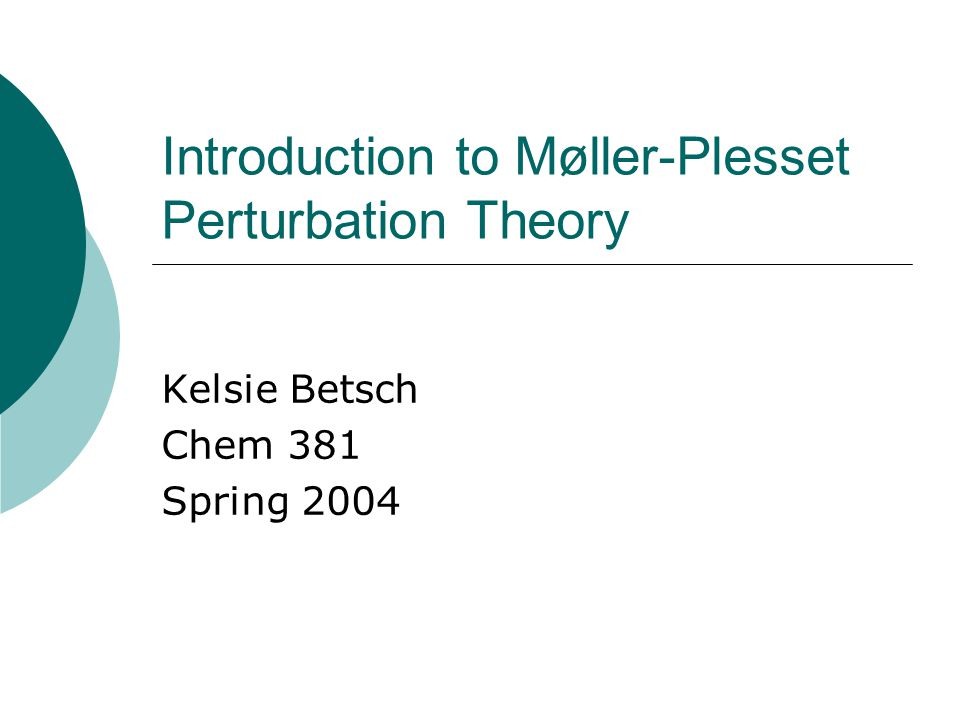 Introduction to Møller-Plesset Perturbation Theory