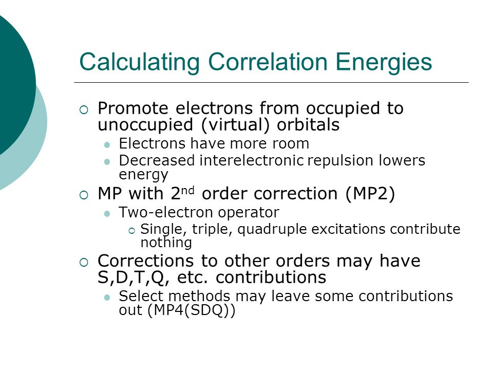 Calculating Correlation Energies