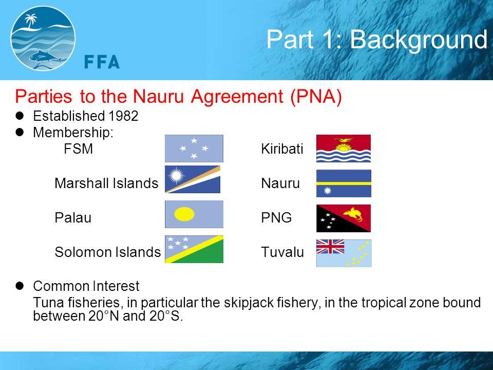 Part 1: Background Parties to the Nauru Agreement (PNA)