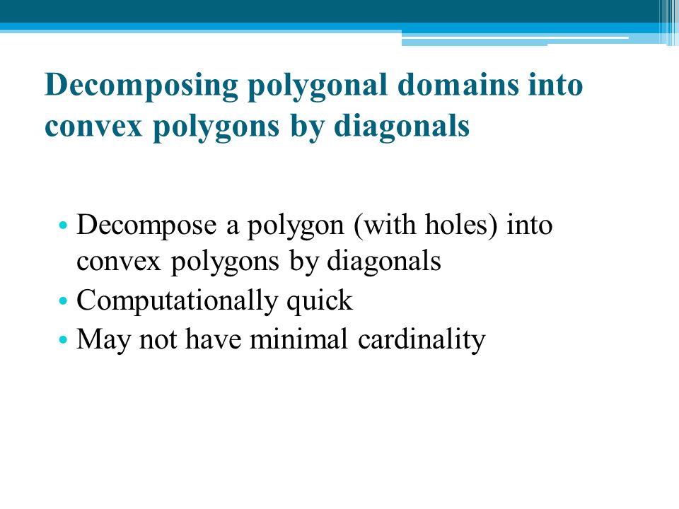 Decomposing polygonal domains into convex polygons by diagonals