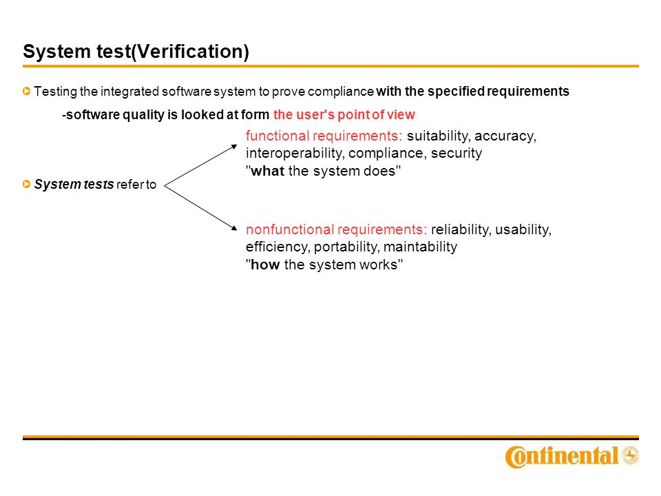 System test(Verification)