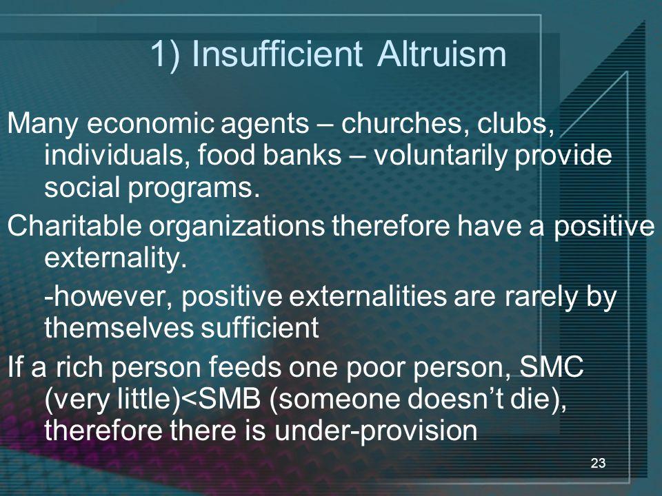 1) Insufficient Altruism