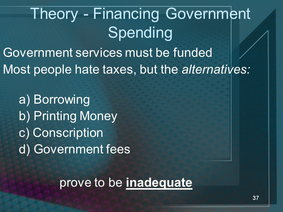 Theory - Financing Government Spending