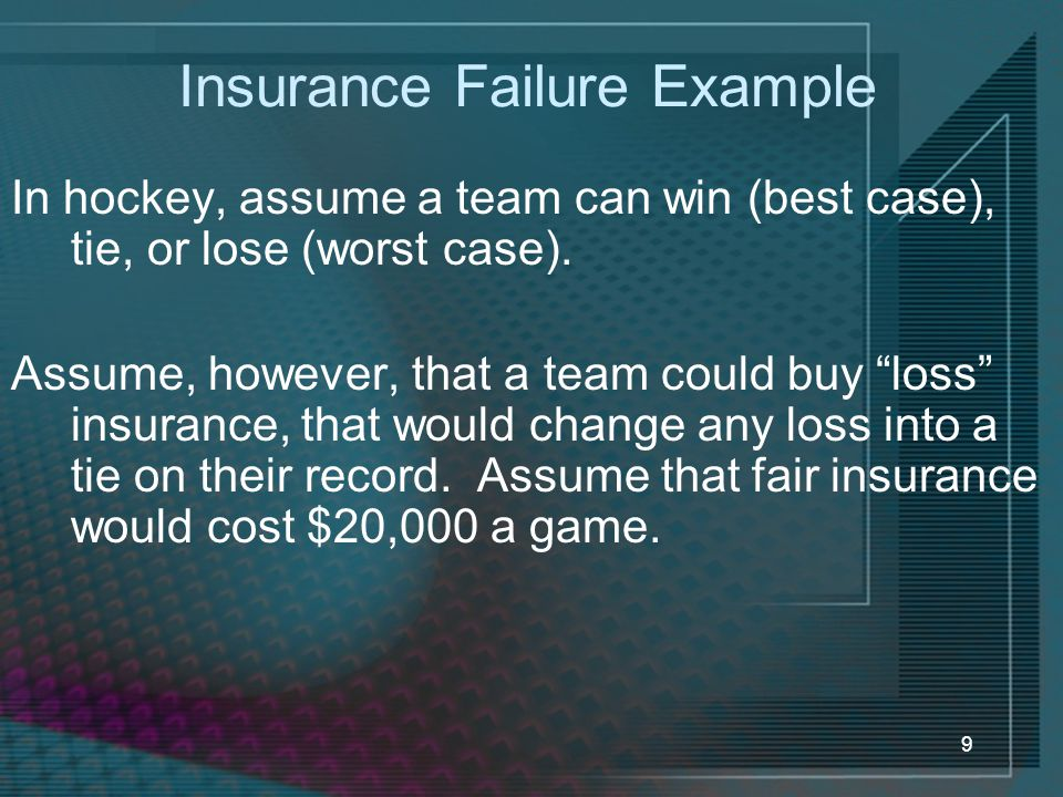 Insurance Failure Example