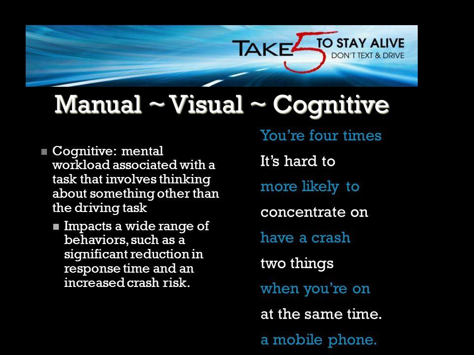 Manual ~ Visual ~ Cognitive