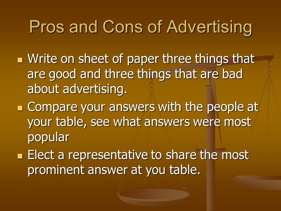 Pros and Cons of Advertising
