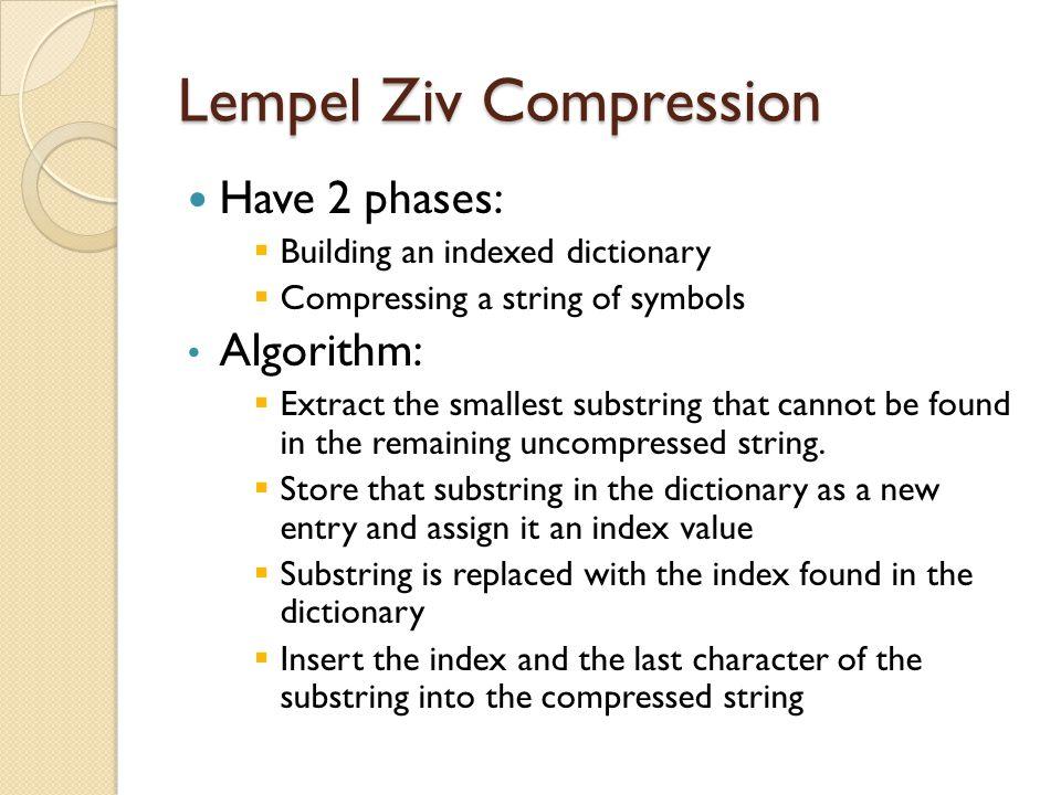 Lempel Ziv Compression