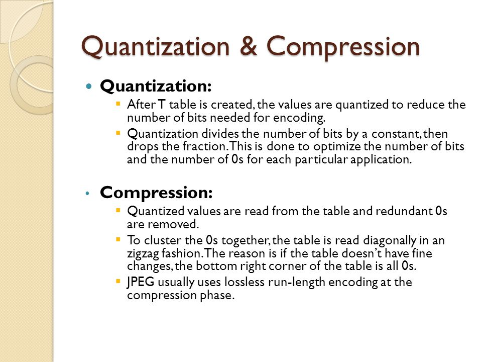 Quantization & Compression