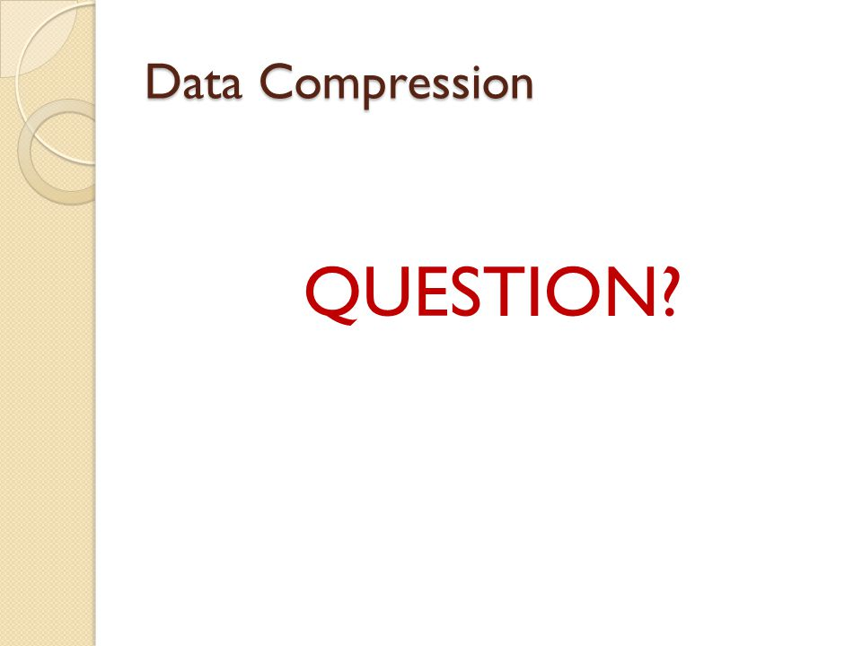 Data Compression QUESTION