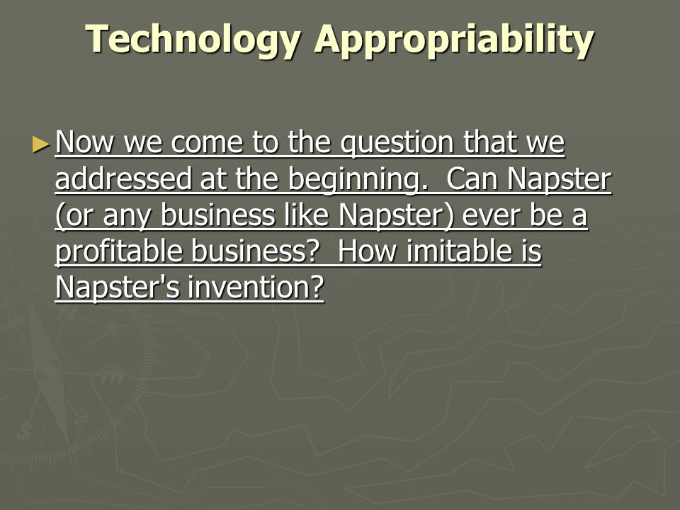 Technology Appropriability
