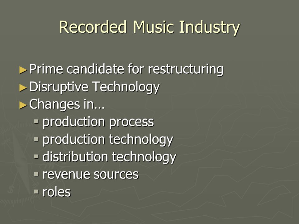 Recorded Music Industry