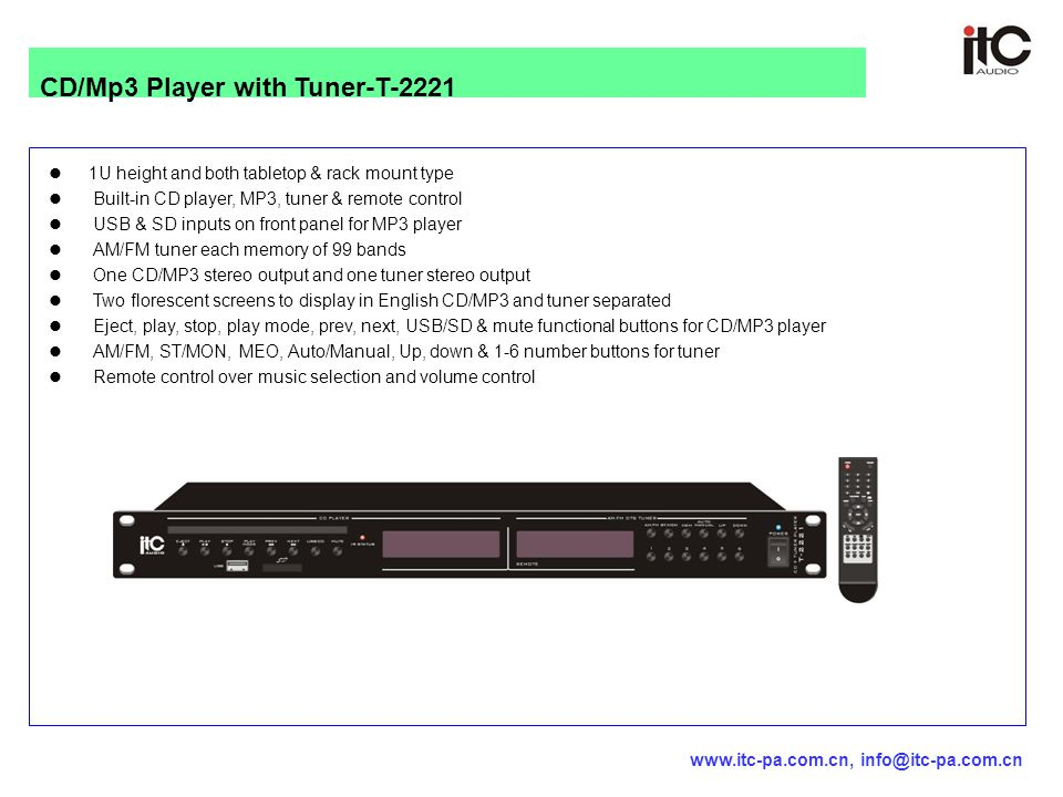 CD/Mp3 Player with Tuner-T-2221