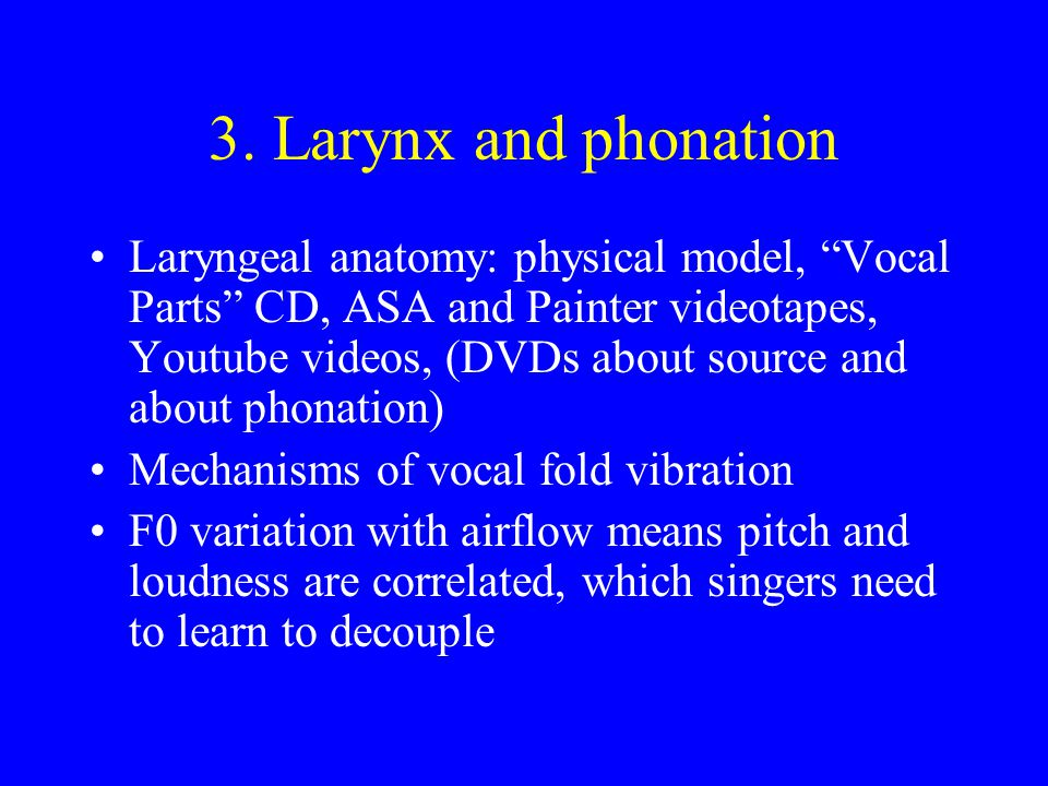 3. Larynx and phonation