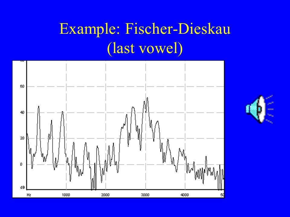 Example: Fischer-Dieskau (last vowel)