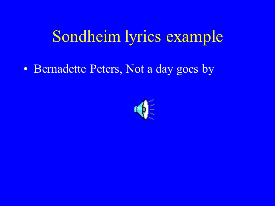 Sondheim lyrics example