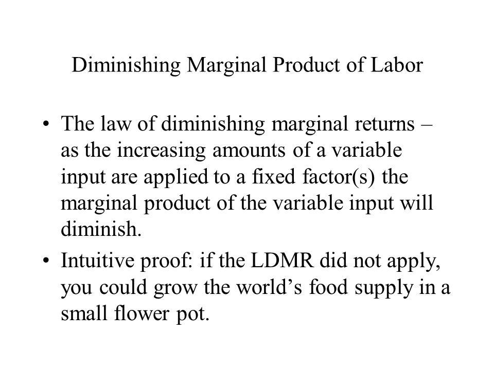 Diminishing Marginal Product of Labor