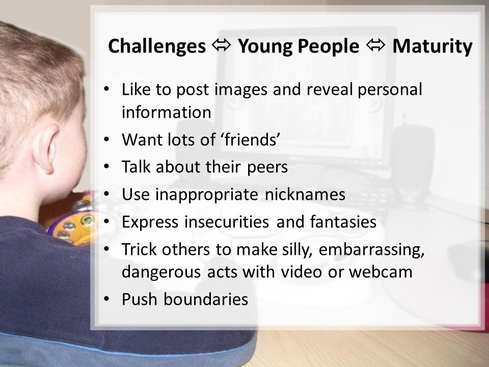 Challenges  Young People  Maturity