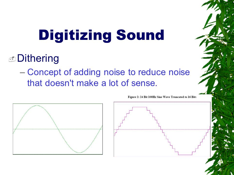Digitizing Sound Dithering