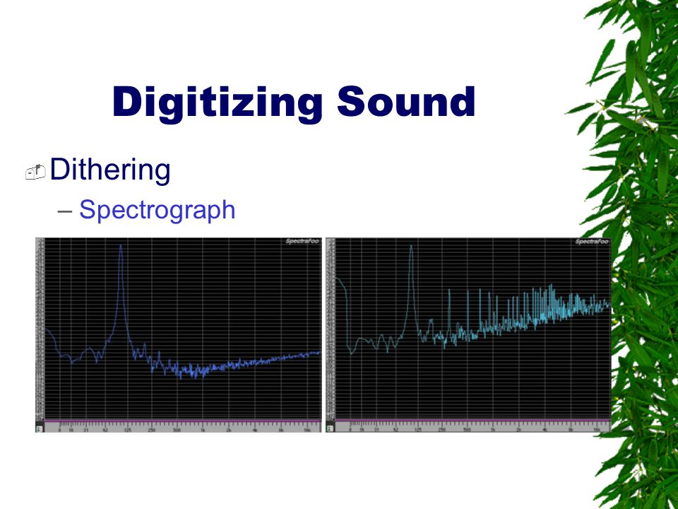 Digitizing Sound Dithering Spectrograph