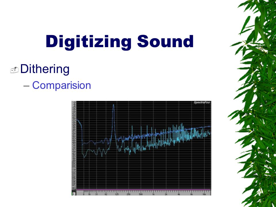 Digitizing Sound Dithering Comparision